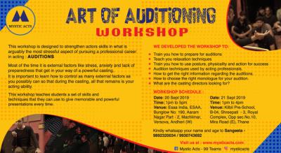 Art of Auditioning workshop