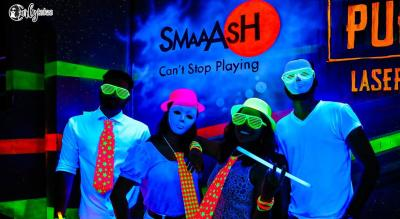 Trampoline Neon Party at Smaaash, Lower Parel