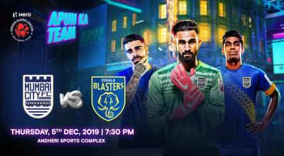 HERO Indian Super League 2019-20: Mumbai City FC vs Kerala Blasters FC