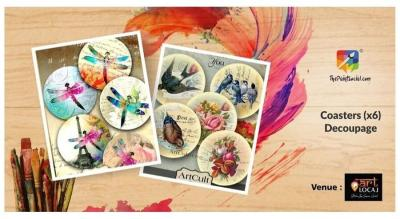 Coasters (x6) Decoupage -The Paint Social
