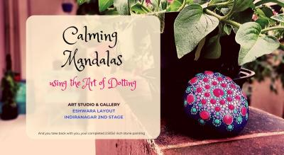 Calming Mandalas on Stones using the Art of Dotting