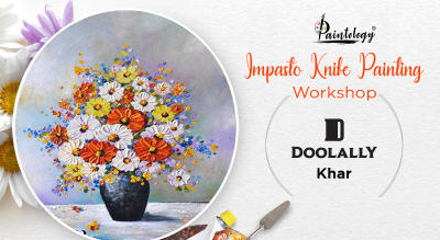 'Impasto' Knife Painting party by Paintology
