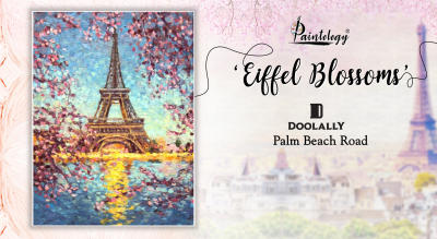 Canvas Painting Party – 'Eiffel Blossoms'