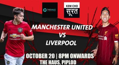 Manchester United vs Liverpool At The Haus, Surat