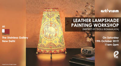 Leather Lampshade Painting Workshop
