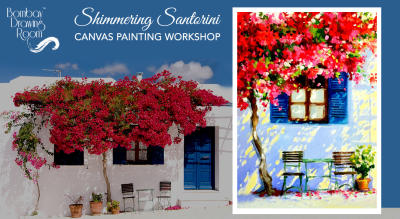 Diwali Special Painting Party - Shimmering Santorini by Bombay Drawing Room