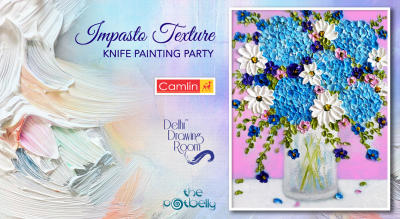 Impasto Texture Knife Painting Party by Delhi Drawing Room