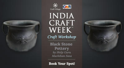 Black Stone Pottery Workshop | India Craft Week 2019