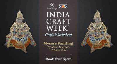 Mysore Painting Workshop | India Craft Week 2019