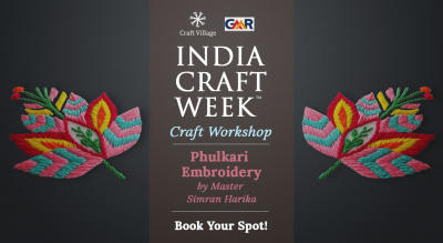 Phulkari Embroidery Workshop | India Craft Week 2019