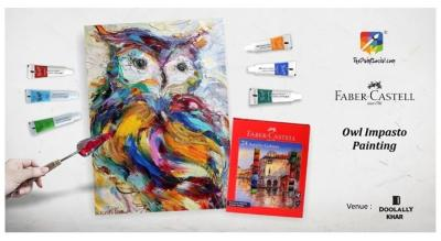 Owl Impasto Painting : By  The Paint Social