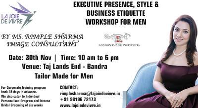 Executive Presence, Style & Business Etiquette Workshop For Men