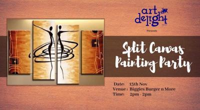 Split Canvas Painting Party