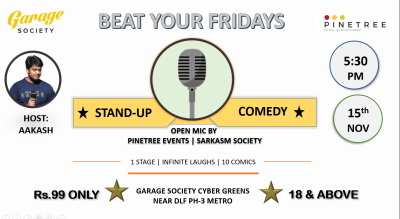Beat Your Fridays: A Stand-up Comedy Open Mic
