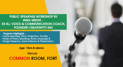 Public Speaking by Creatiwitty.inc at Common Room, Fort