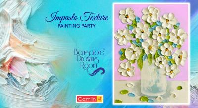 Impasto Texture Painting Party by Bangalore Drawing Room