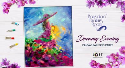 Dreamy Evening Canvas Painting Party by Bangalore Drawing Room
