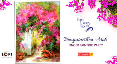 Bougainvillea Arch Finger Painting Party by Pune Drawing Room