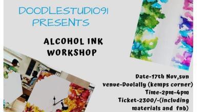 Alcohol Ink Workshop: By Avni Shah