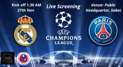UCL screening Real Madrid vs Paris Saint-Germain
