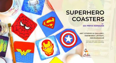 Avengers & other Superhero Coasters Painting Party