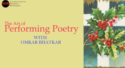 Workshop: Performance Poetry