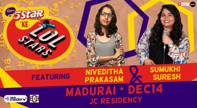 5Star ke LOLStars ft Niveditha & Sumukhi   Madurai