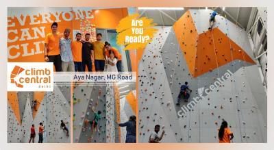 Indoor Rock Climbing at Climb Central Delhi