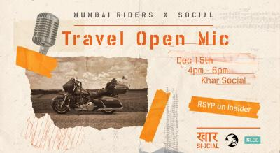 Social x Mumbai Riders: Travel Open Mic