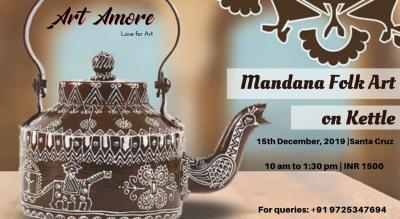 Mandana Folk Art on Kettle Workshop, Mumbai