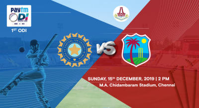 Paytm ODI Series 1st ODI: India Vs West Indies, Chennai