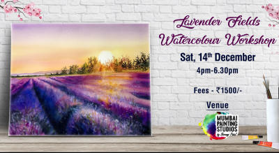 Lavender Fields Knife Painting Workshop in Mumbai
