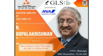 VJTI Guest Lecture Series - A lecture by R. Gopalakrishnan.