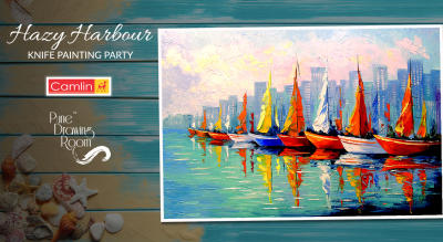 Hazy Harbour Knife Painting Party by Pune Drawing Room