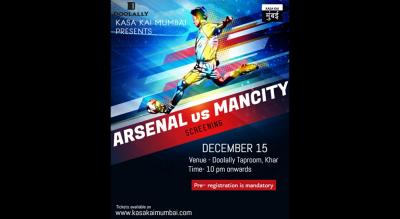 Arsenal vs Mancity At Doolally, Khar