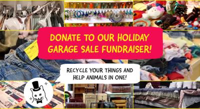 Donate to The Feline Foundation Garage Sale