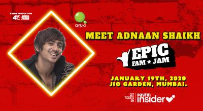 Meet Adnaan Shaikh @ Epic Fam Jam | Mumbai | LIVE CONCERT