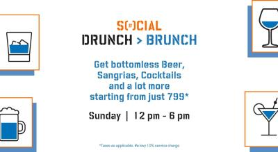 Drunch > Brunch (Every Sunday)