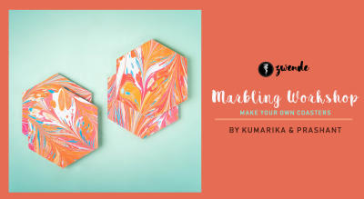 Marbling Workshop - Make your own Coasters by Kumarika & Prashant