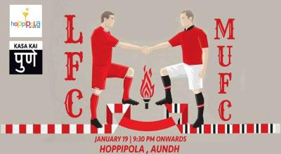 Liverpool FC vs Manchester United FC At Hoppipola Aundh, Pune