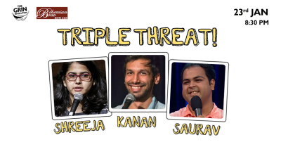 Grin Revolution: Triple Threat w/ Shreeja, Kanan & Saurav Mehta