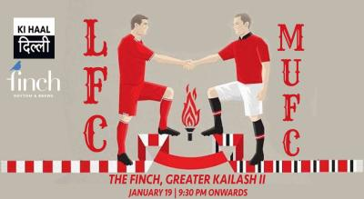 Liverpool FC vs Manchester United FC At The Finch, Delhi