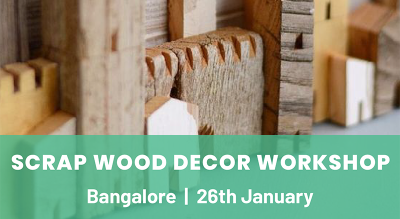 Scrap wood decor workshop