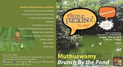 MuthuSwamy Sunday Brunch - Traditional Kerala Sadhya Meal by the Pond