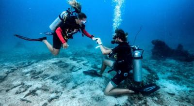 Proposal dive at Malvan private beach