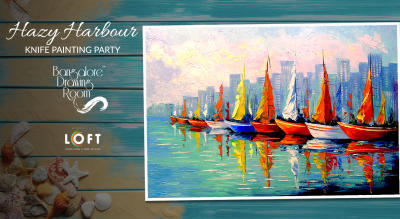 Hazy Harbour Knife Painting Party by Bangalore Drawing Room