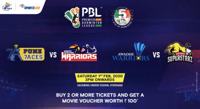 PBL 2020: Pune 7Aces vs North Eastern Warriors and Awadhe Warriors vs Chennai Superstarz