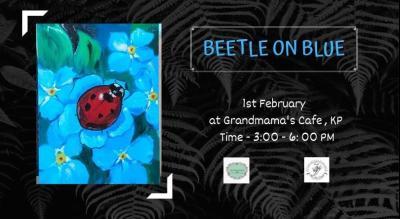 Beetle On Blue