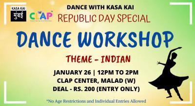 Dance With Kasa Kai - Theme Indian At Clap Center, Malad