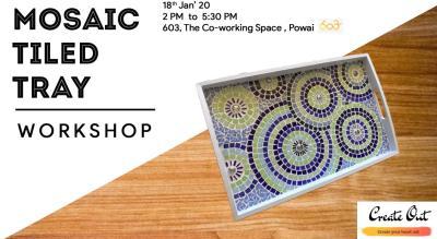 Mosaic Tiled Tray